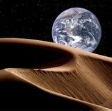 在空间的地球 库存图片
