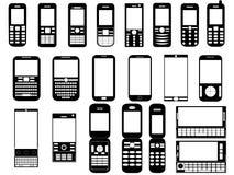 Мобильные телефоны Стоковые Фотографии RF