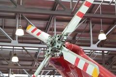 回到直升机推进器 免版税库存照片