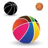 美丽的五颜六色的篮子球的例证 库存图片