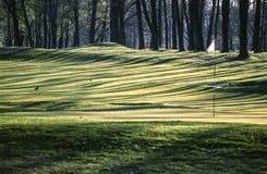 蒙扎公园,高尔夫球现场 免版税库存照片