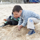 Παιδιά στην παραλία Στοκ Φωτογραφία