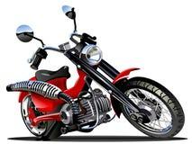 向量动画片摩托车 免版税库存照片