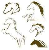 Лошадь силуэта черная Стоковое Изображение RF