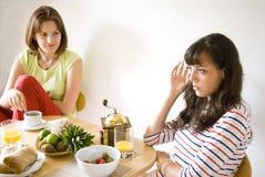 女孩厨房 免版税图库摄影