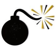 炸弹向量 免版税库存照片
