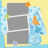 Χαριτωμένο πρότυπο για την κάρτα του μωρού Στοκ Φωτογραφίες