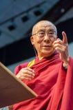 Далаи Лама на этапе Стоковое Изображение RF