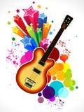 Абстрактная цветастая предпосылка гитары Стоковая Фотография RF