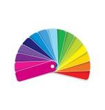 在彩虹向量的样片 免版税库存照片