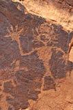 岩石艺术形象挥动 免版税库存照片