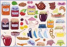 Τσάι με τη μαρμελάδα Στοκ Εικόνες