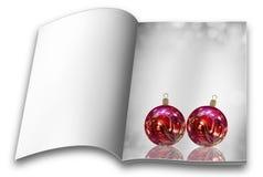 Βιβλία εικόνων σφαιρών Χριστουγέννων Στοκ Εικόνα