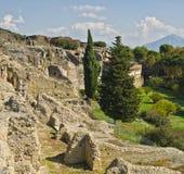 庞贝城废墟,意大利 免版税库存照片