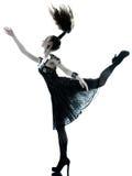 妇女方式黑色丝绸夏天礼服 图库摄影