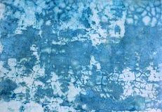 Βρώμικη μπλε αφηρημένη ανασκόπηση Στοκ Εικόνες