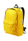 黄色背包 免版税库存图片
