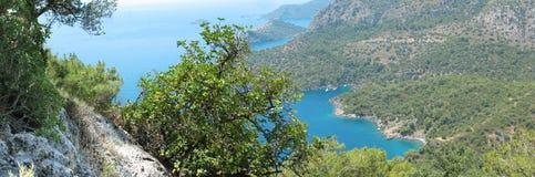 地中海火鸡海岸线横向  库存图片