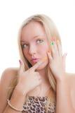 Предназначенные для подростков ногти Стоковые Изображения