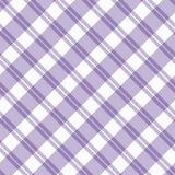 浅紫色的格子花呢披肩织品背景 免版税图库摄影