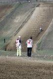 人员摩托车越野赛。 免版税库存照片