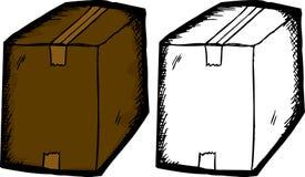 Связанная тесьмой коробка над белизной Стоковые Изображения