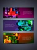 套抽象向量万维网标头或横幅设计 免版税库存图片