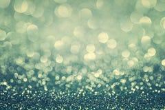 蓝色闪烁圣诞节背景 免版税库存图片