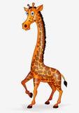 长颈鹿动画片 库存图片