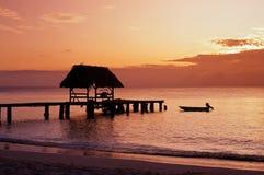鸽子点,多巴哥,加勒比。 免版税库存照片