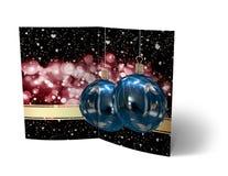 Φυλλάδιο σφαιρών Χριστουγέννων, απεικόνιση καρτών Στοκ φωτογραφίες με δικαίωμα ελεύθερης χρήσης