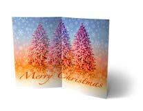 Φυλλάδιο σφαιρών Χριστουγέννων, απεικόνιση καρτών Στοκ φωτογραφία με δικαίωμα ελεύθερης χρήσης