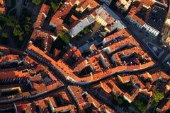 维尔纽斯老城镇从上面 免版税图库摄影