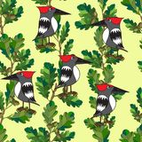 小的鸟唱歌曲。 无缝的纹理。 库存图片