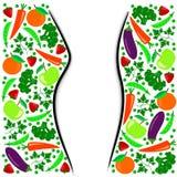 Иллюстрация здорового диетпитания Стоковые Изображения RF