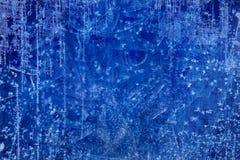 艺术圣诞节蓝色冰纹理冬天背景 免版税库存照片
