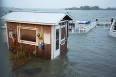 飓风桑迪后院射击 免版税库存照片