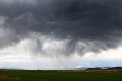 雷暴在农村爱达荷 免版税库存照片