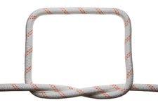 Квадратная рамка скрепления веревочки Стоковые Изображения RF