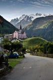 瑞士高山村庄 库存照片