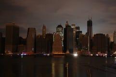 黑暗的曼哈顿 库存图片