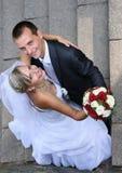 美好的婚礼夫妇 库存照片