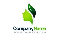 Логос стороны листьев Стоковое Фото