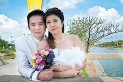 συνδέστε το γάμο πάρκων Στοκ φωτογραφία με δικαίωμα ελεύθερης χρήσης