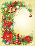 Εκλεκτής ποιότητας πρότυπο Χριστουγέννων Στοκ Φωτογραφίες