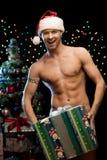 性感的圣诞节人 图库摄影