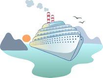 Океанский лайнер Стоковое фото RF