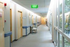 Διάδρομος θαλάμων νοσοκομείων Στοκ Φωτογραφία