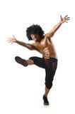 Χορευτής που απομονώνεται αστείος Στοκ φωτογραφίες με δικαίωμα ελεύθερης χρήσης
