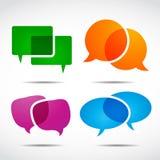 Социальный комплект пузыря речи средств Стоковые Изображения RF